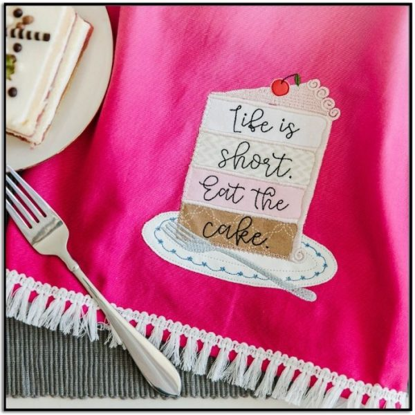 Kimberbell Fill in the Blank February 2021 Ombre Tea Towel