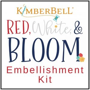 Kimberbell Red White and Bloom Quilt Embellishment Kit - KD809