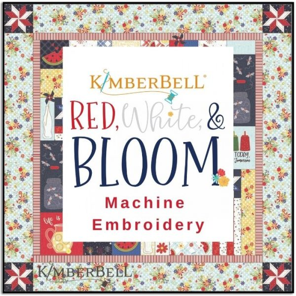 Kimberbell Red White and Bloom Quilt Embroidery CD KD809
