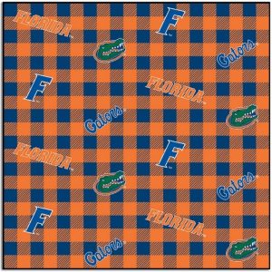 University of Florida Gators Buffalo Plaid Fabric FL-1207