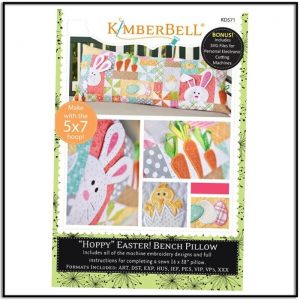 Kimberbell Hoppy Easter Bench Pillow KD571