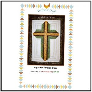 Log Cabin Christian Cross QFOX001