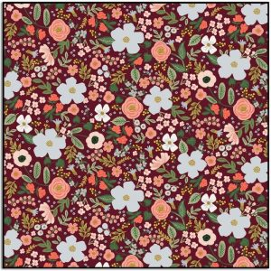 Rifle Paper Co Garden Party Wild Rose Burgundy Metallic RP303-BU5M