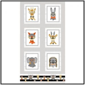 Wild and Free Panel Large Blocks 9569-91 Gray