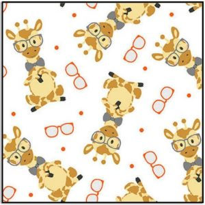 Wild and Free Tossed Giraffes 9564-30 White