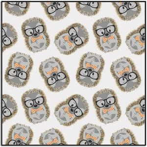 Wild and Free Tossed Hedgehog 9566-91 Gray