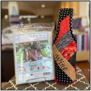 Quilt as You Go Set of 3 Wine Totes JT-1490-lifestyle-2