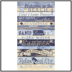Timeless Treasures Welcome to the Beach - Panel C8286-MULTI