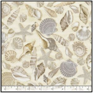 Timeless Treasures Welcome to the Beach - Shells C5353-SHELLS
