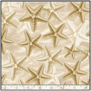 Timeless Treasures Welcome to the Beach - Starfish on Sand C8394-NATURAL