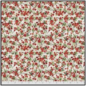 Free Spirit Christmastime Winter Berries PWTH164.RED