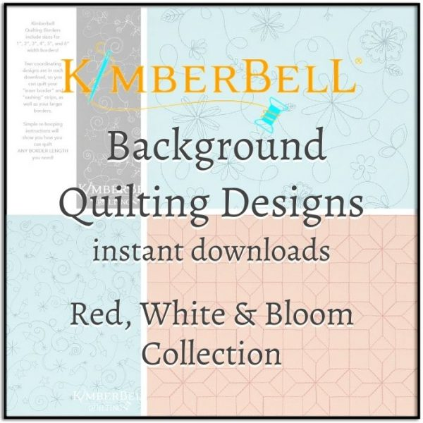 Kimberbell Background Quilting Red White Bloom