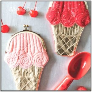 Kimberbell Summer Scoops Clasp Purses